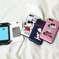 【超カラフル♪】スヌーピージョイフルカード収納ケータイケース iPhone XS max Galaxy S10+ スマホケース
