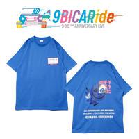 【9bic 2nd Anniversary Live -9BICARide-】2ND ANNIVERSARY TEE(ブルー)