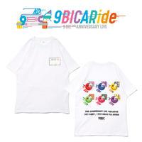 【9bic 2nd Anniversary Live -9BICARide-】2ND ANNIVERSARY TEE(ホワイト)