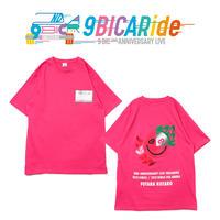 【9bic 2nd Anniversary Live -9BICARide-】2ND ANNIVERSARY TEE(ピンク)