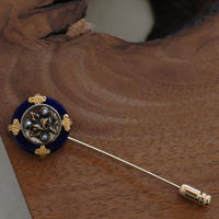 Lapis flower pin【hat pin type】