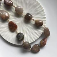 Rutile quartz necklace