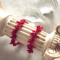 Coral bracelet:Sardinia RED           ※おサイズ直し不可です。