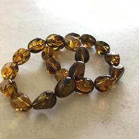 TOROMI bracelet  【Amber yellow color】  15cm