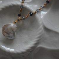 Baroque Pearl Necklace【IOLITE chain 】