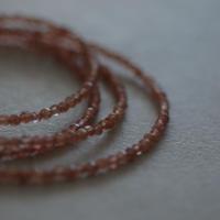 Plum quartz necklace