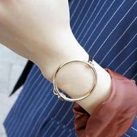 【即納】丸いブレスレット シルバー/ゴールド  レディース 女性用シンプルクールセクシー