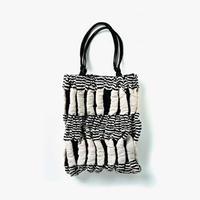 [鶴岡シルク]kibisoスウィングバッグ 「風通 縞と筋」