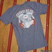 Shovelhead Tee / ショベルヘッドTeeシャツ / ローレンスビンテージサイクル BG コラボTee / グレー