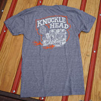 Knucklehead Tee / ナックルヘッドTeeシャツ / ローレンスビンテージサイクル BG コラボTee / グレー