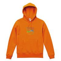 Rainbow LOGO Hoodie [orange]