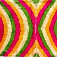 クッションカバー サイケ ウズベキスタン 約38.5 x 59.5cm ベルベットイカット psyche velvet ikat cushion cover uzbekistan vi-0016