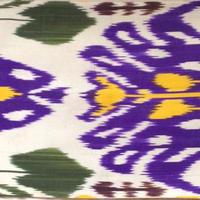 クッションカバー紫ウズベキスタン約45.5 x 40cmシルクイカット purple silk ikat cushion cover uzbekistan si-0007