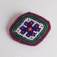 ビーズメダリオン ヘアアクセ アフガニスタン 菱 Afghanistan beaded medalion hair accessory HC-0005