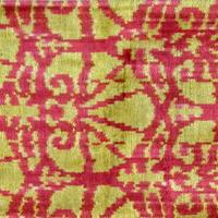 クッションカバー 金盞花 ウズベキスタン 約36 x 59cm ベルベットイカット calendula velvet ikat cushion cover uzbekistan vi-0019