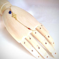 ラピスラズリしずく ハンドチェーン Hand Chain drop lapis lazuli HC-0003