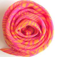やわらかコットンスカーフピンク+黄色 トルコ cotton soft pink+yellow scarf turkey sf-0001