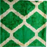 クッションカバー 亀 ウズベキスタン 約49 x 50cm ベルベットイカット turtle velvet ikat cushion cover uzbekistan vi-0021