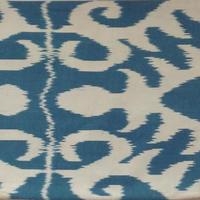 【訳あり】クッションカバー青緑ウズベキスタン 約41 x 36cm シルクイカット blue-green silk ikat cushion cover uzbekistan si-0010