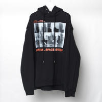 "PLEATS SWEAT HOODIE ""VIRTUAL SPACE SYSTEM"""