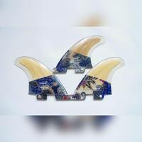 FCS2, トライフィン, Mサイズ, バンブーバティックフィン