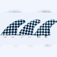 FCS, トライフィン,Mサイズ,市松