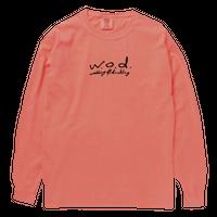 カセットロゴ ロングスリーブTシャツ[ネオンオレンジ]