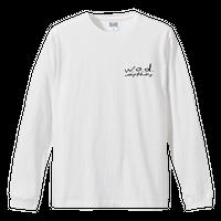ロゴ ロングスリーブTシャツ[ホワイト]