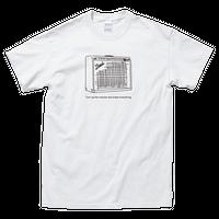 ツイン アンプイラストTシャツ[ホワイト]