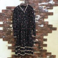 OLD LADIES COTTON FLOWER PRINT DRESS