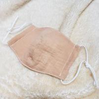 スネークウッドで染色した布マスク(両面ダブルガーゼ製)