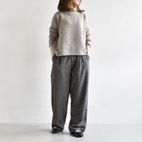 evam eva/wool wide tuck pants /E193T135