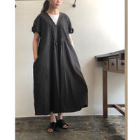 Vlas blomme/Cotton Dobby ピンタックワンピース