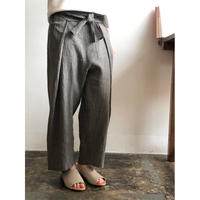 evam eva/ cotton linen easy wrap pants