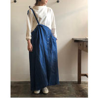 Vlas Blomme/13537691/Chefchaouen Blue Stripe 2Way スカート