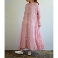 R&D.M.co / OLDMAN'S TAILOR  /  WINDOW PANE LINEN GAUZE PULL OVER DRESS 3662