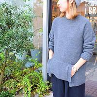 Vlas Blomme / Fluffy Wool Linen プルオーバー