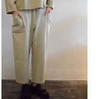 evam eva /twill voile drop pocket easy pants