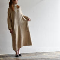 Vlas Blomme 11204891 Silk Linen Alpaca タートルネックワンピース