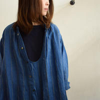 Vlas Blomme Chefchaouen Blue Stripe 2Way ワンピース