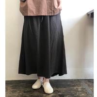 Vlas blomme/Cotton Dobby ピンタックスカート