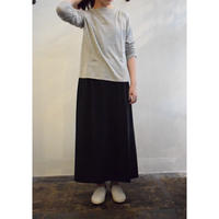 evam eva / cotton  double side gather skirt