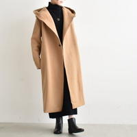 R&D.M.Co- / WOOL FELT KNIT LONG HOODY COAT 3339