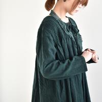vlas blomme/リファインガーゼ シャドーストライプ シャーリングチュニック/13131691