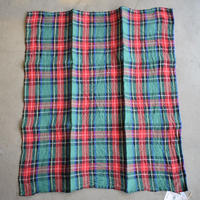 R&D.M.Co/LINEN TARTAN CHECK HANDKERCHIEF