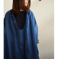 Vlas Blomme/13218291/ Chefchaouen Blue Stripe 2Way ワンピース