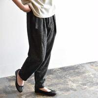 evam eva / wool tuck pants e193t134