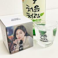 「チョウムチョロム」♡型グラス