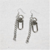 予約注文受付11/26-12/22[Hand made]Chain Swivel Hook Earrings