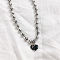 [Hand made]Surgical Ball Chain LOVE Necklace